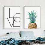 affiche love ananas
