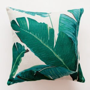Coussin tropical verde