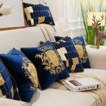 Collection de coussin bleu royale