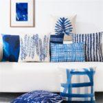 Housse de coussin nature blue nordique