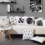 Housse de coussin scandinave black & white