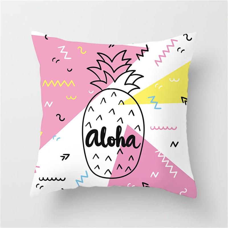 Housse de coussin aloha ananas