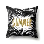 Housse de coussin tropical gold and black