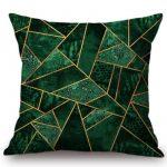 Housse de coussin 3D green géométrique