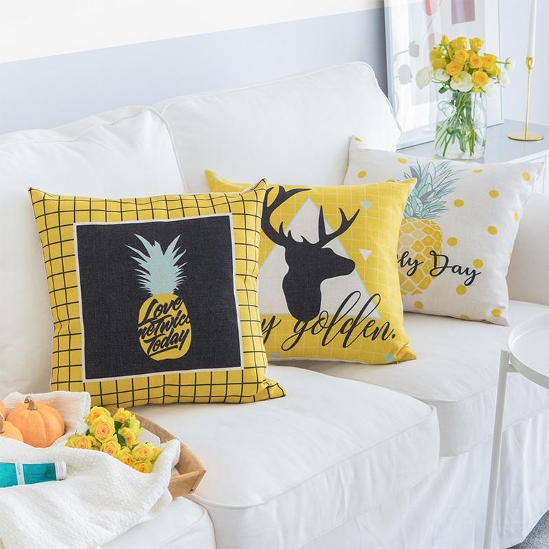 Housse de coussin summer ananas