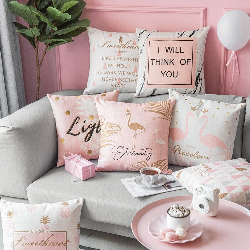 Housse de coussin Girly