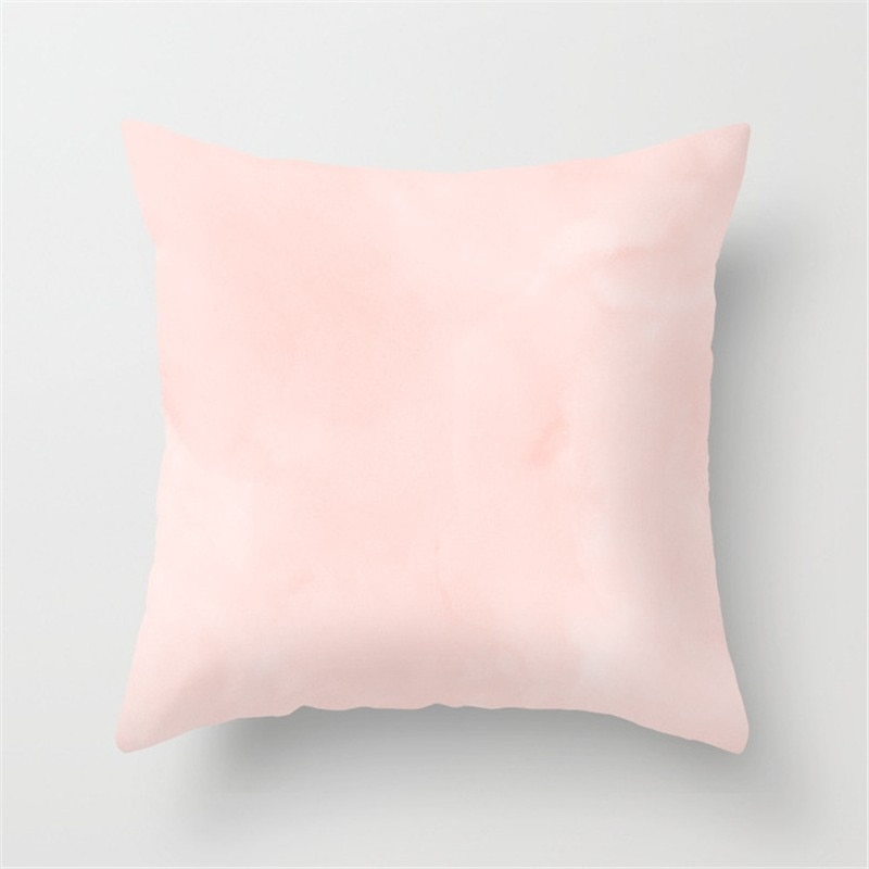 coussin rose pale