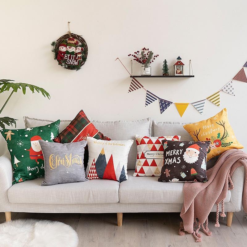 Housses de coussin Festives de Noël