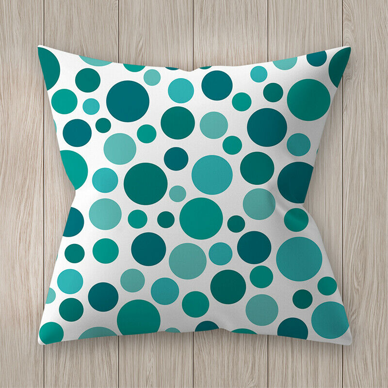 Housses de coussin bleu vert créatif