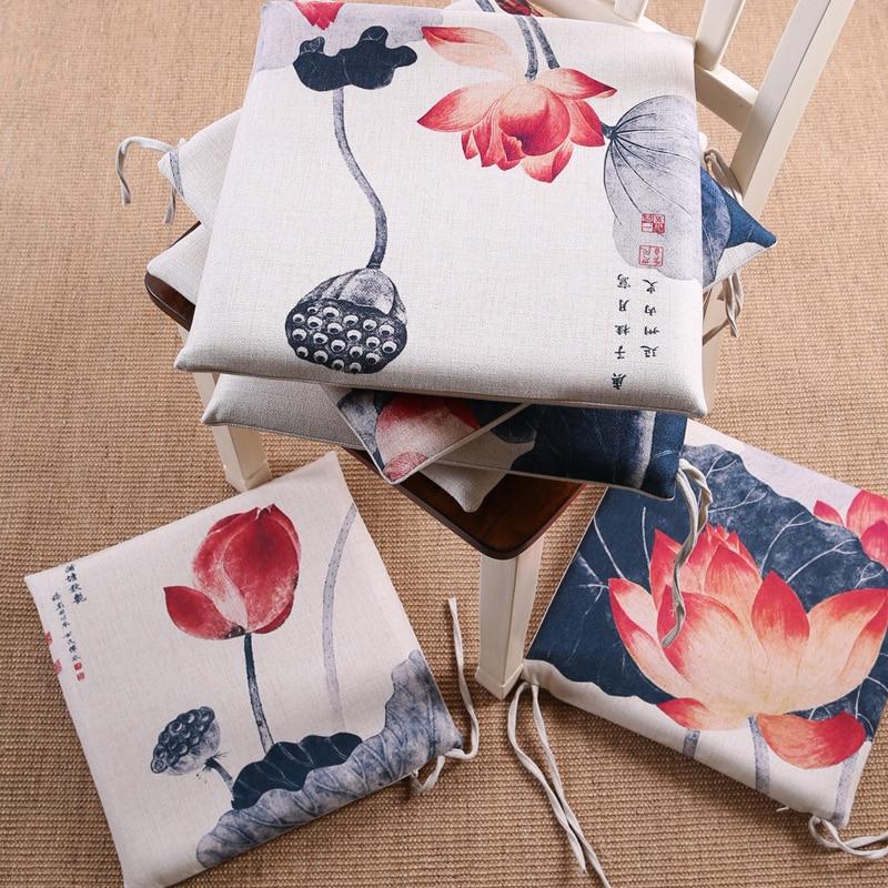 Coussin de chaise lotus vintage