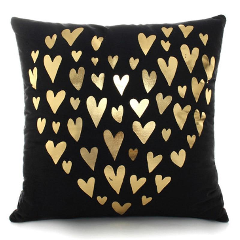Housse de coussin golden love