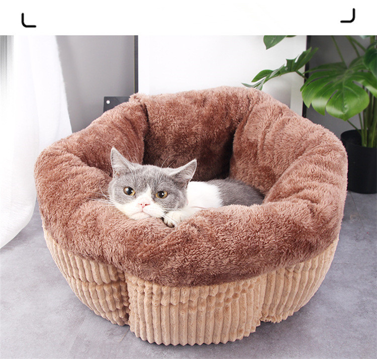 Coussin chat confortable muffin