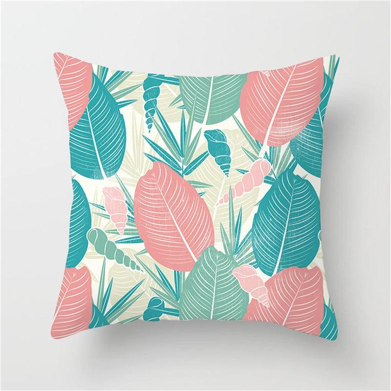 housse de coussin plante tropicale ananas
