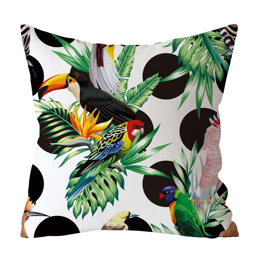 Housse de coussin Tropicale toucan 1