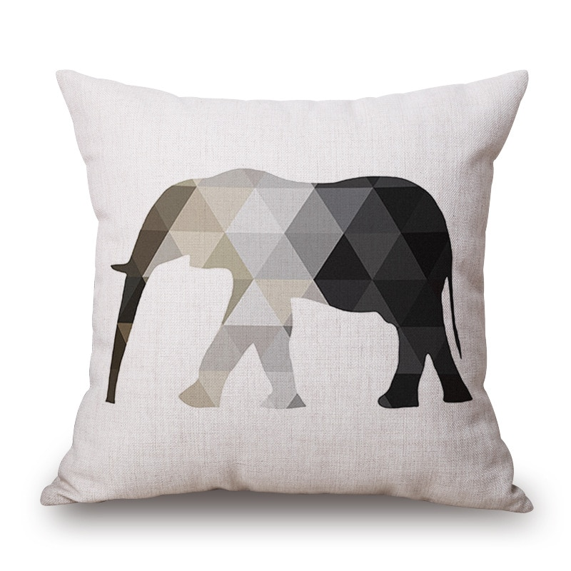 housse de coussin scandinave elephant