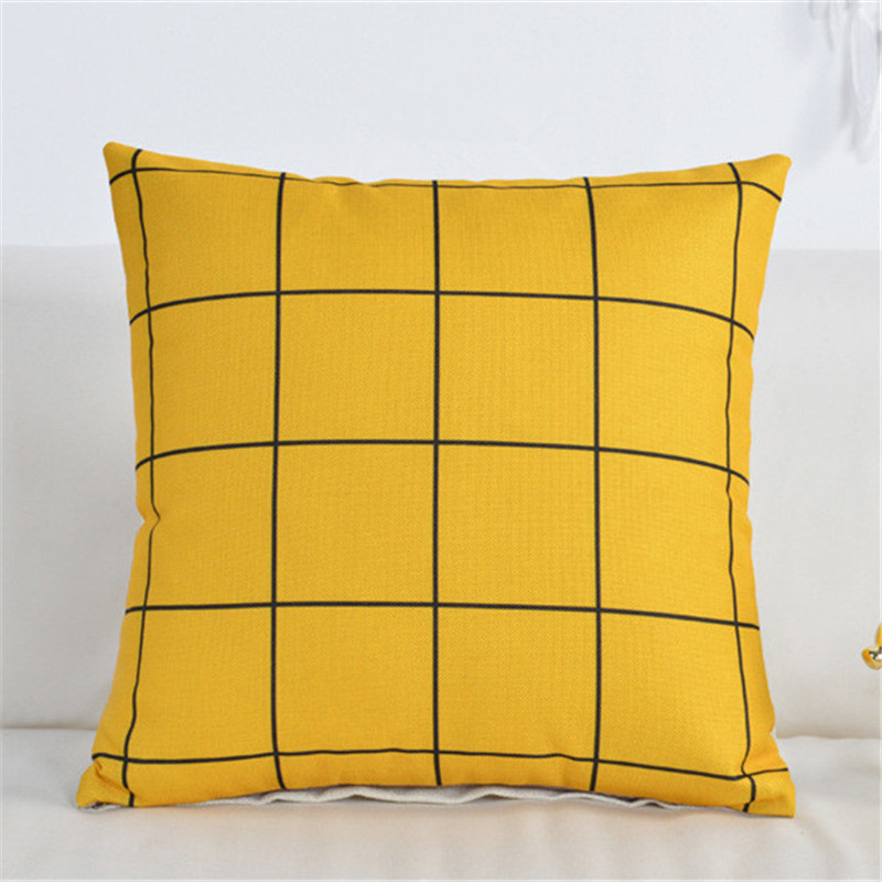 Housse de coussin yellow be mine