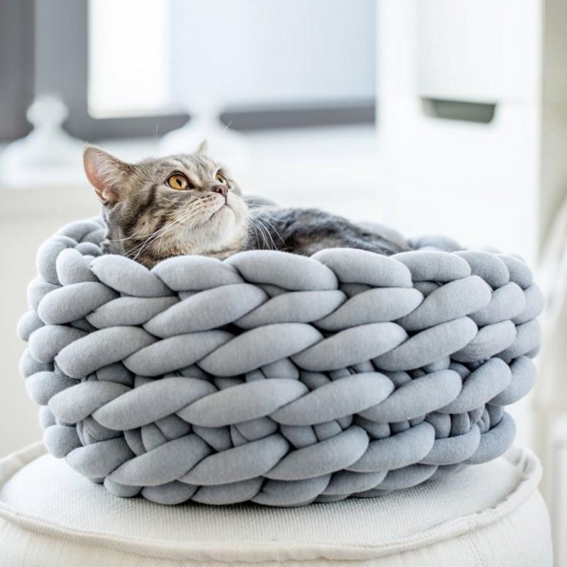 Coussin pour chat nid de laine 1