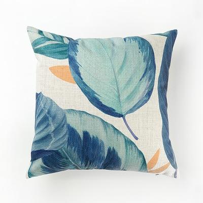 Housse de coussin plante bleu nordique 11