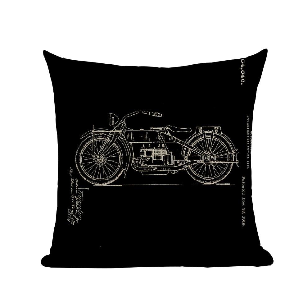 Housses de coussin moto moteur vintage 3